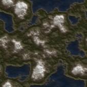 Seamless Green Terrain Background — Stock Photo