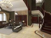 Living Room Render — Stock Photo