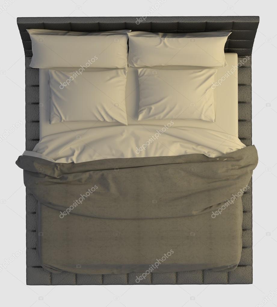 bett draufsicht isolated on white stockfoto vik173 83099028. Black Bedroom Furniture Sets. Home Design Ideas