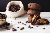 Chocolate cookies with peanut butter — Foto de Stock