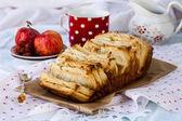 Apple cake with cinnamon and sugar — Stock Photo