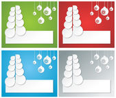 Christmas banners from paper — Stock Photo