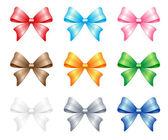 Multi colored bows set — Stock Photo