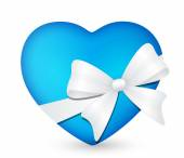 Heart with white bow 3 — Stock Photo