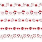 Valentines borders set 1 — Stock Photo #53163059