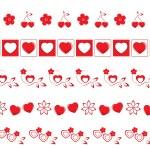 Valentine borders set 2 — Stock Photo #53163085