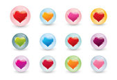 Valentine icons — Stock Photo