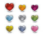 Valentine buttons 4 — Stock Photo
