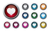 Valentine buttons 2 — Stock Photo