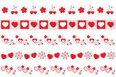 Valentine borders set 2 — Stock Photo