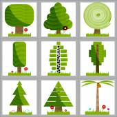 Banners with trees. Vector illustration. — Stock Vector