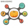 Pumpkin , infographics. vegetables vector illustration — Stok Vektör #56508803