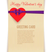 Cartão feliz dia de São Valentim — Vetor de Stock
