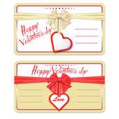 Card Happy Valentine's Day — Vecteur