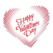 Happy Valentine's Day Vector Lettering — Stock Vector