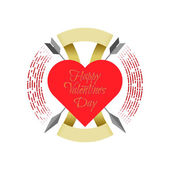 Happy Valentine's Day label — Stock Vector