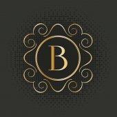 Kaligrafie monogram, vintage vzor logo — Stock vektor
