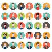 Set avatars flat style men women profession — Stock Vector