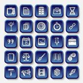 Icons sketches for the site — Stock Vector