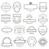 Abzeichen und Embleme Vorlage für logo — Stockvektor