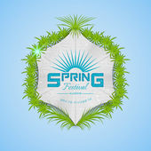 Spring Festival realistic badge — Stock Vector