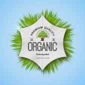 Organic Natural Ecology stickers — Vecteur