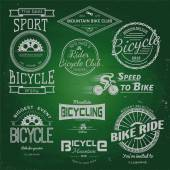 Bicycle badges logos and labels for any use. — Stockvektor