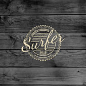 Surf badges logos and labels for any use — Vecteur
