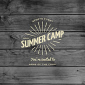 Summer camp badges logos and labels for any use — Stock Vector