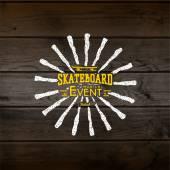 Skateboard badges logos and labels — Stock Vector