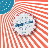 Memorial day, badges logos and labels for any use — Stock Vector