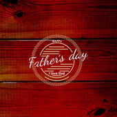 父の日バッジ ロゴとラベル — ストックベクタ