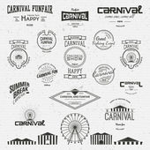 Carnival badges logos and labels — Stock Vector