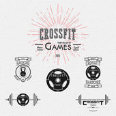 CrossFit badges logos and labels for any use — Stock Vector