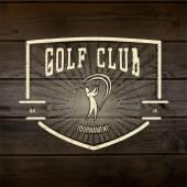Golf loghi distintivi ed etichette per qualsiasi uso — Vettoriale Stock