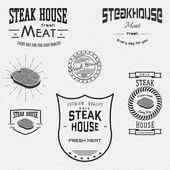 Steak house badges logos and labels for any use — Stock Vector