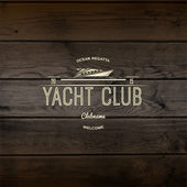 Yacht club badges logos and labels for any use — Stock Photo