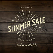Summer sale badges logos and labels for any use — Stock Photo