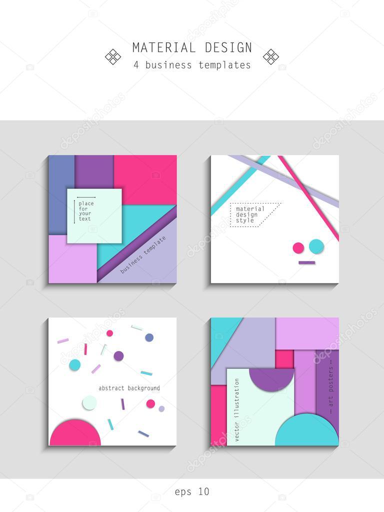 Дизайн в стиле flat или material design