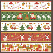 Seamless pattern with Christmas accessories — Stock Vector