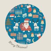 Ball-Christmas set — Stock Vector