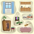 Set-furniture — Stock Vector #53569941