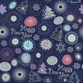 Seamless pattern Happy New Year — Stock Vector