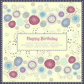 Greeting card with floral background — Vetorial Stock
