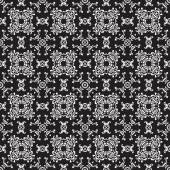 Seamless vintage black-and-white pattern — Stock Vector
