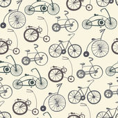 Seamless pattern with vintage bicycles — Stock vektor