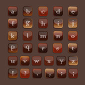 Alphabet-icons-color-tea-coffee-set — Wektor stockowy