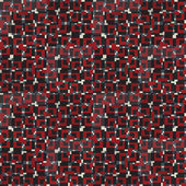 Geometric seamless pattern in red, white and black colors — Stock Vector