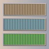 Set frames with knitted background — Stock vektor
