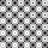 Seamless graphic pattern with circles and squares. Vector background. — Stock Vector